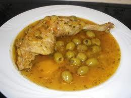 Poulet au citron et aux olive (facon marocaine )